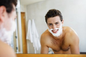 Young Man Shaving 300x200 Mens grooming tips: A guide to wet shaving (part 3)