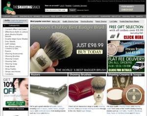 Shaving Shack website thumb