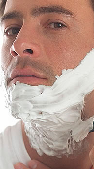 man shaving Wet shaving hints & tips for that smooth, close shave