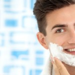 man with shaving face shaving cream 150x150 Home