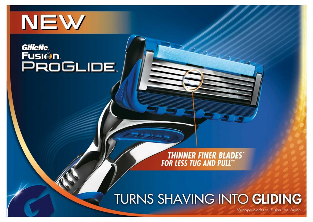 Gillette has unveiled the new Fusion ProGlide Power razor in the UK