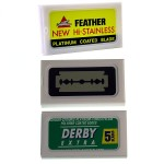 10 Feather 10 Derby Extra 10 Israeli Made Double Edged Razor Blades