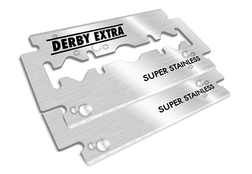 2 x derby extra de razor blades 500x345 Ask Aaron Q/A: How to safely dispose of double edge safety razor blades