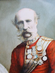 General George Campbell of Inverneill sporting an imperial moustache