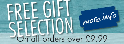 Free Gift Selection on all orders over £9.99