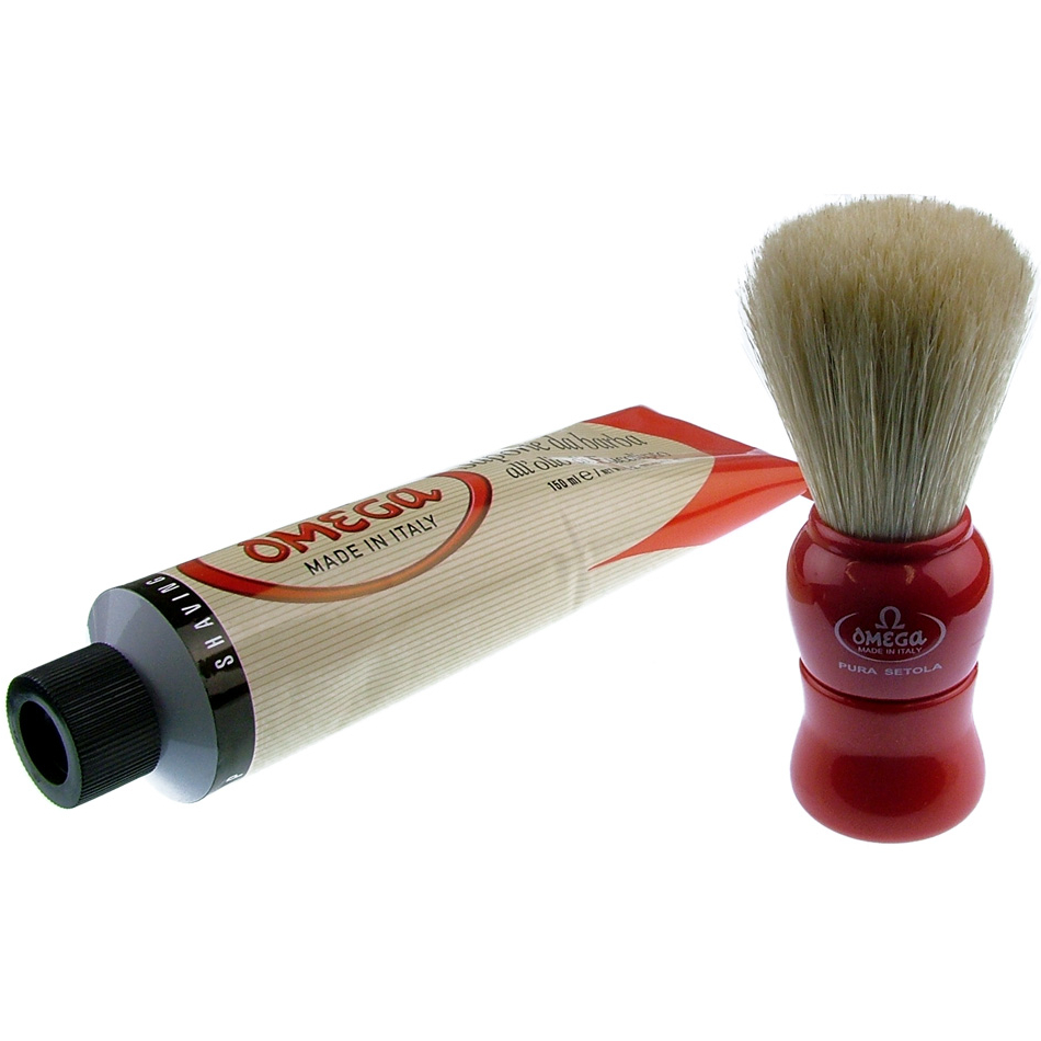how to use shaving cream and brush