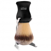 Men-U Premier Shaving Brush, Stand and Shaving Creme (Black)