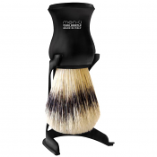 Men-U Barbiere Shaving Brush, Stand and Shaving Creme (Black)