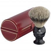Kent BLK4 Silver Tip Badger Shaving Brush (Black)