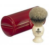 Kent BK4 Silver Tip Badger Shaving Brush (White)