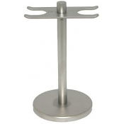 Dovo of Solingen Brushed Steel Razor and Brush Stand