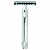 Edwin Jagger Double Edge Razor DE89L - Lined Handle (Plus 5 Derby DE Blades)