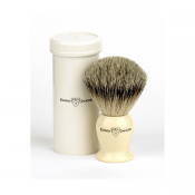 Edwin Jagger Best Badger Travel Shaving Brush (Imitation Ivory)