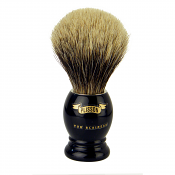 Plisson Black Handle Grey European Badger Shaving Brush