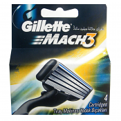 4 Pack of Gillette Mach 3 Razor Blades