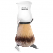 Men-U Premier Shaving Brush, Stand and Shaving Creme (White)