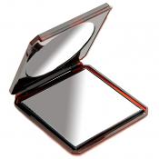 Folding Travel Mirror Tortoiseshell 10 x 9cm - True Image and 2 x Magnification