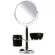 Organiser Mirror 18.7cm - x 5 Magnification (Black and Chrome)