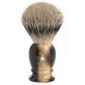 Muhle Faux Ivory Handle Silvertip Badger Brush