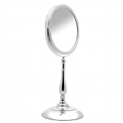 Chrome Pedestal Shaving Mirror 19cm x 5 Magnification