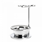 Muhle Chrome Plated Brush and Razor Stand with Bowl