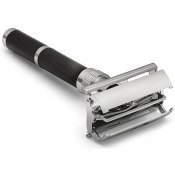 "Parker Model 96 ""Daytona"" Metal Safety Razor with Black and Chrome Finish"