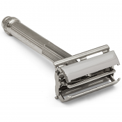 "Parker Model 60R ""Connaught"" Metal Safety Razor with Chrome Finish"