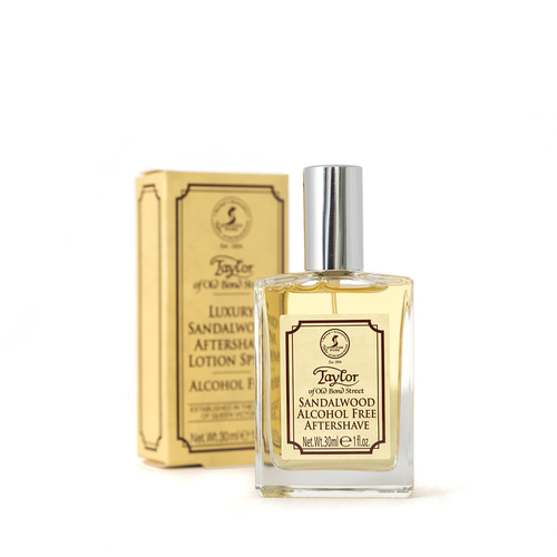 Taylor of Old Bond St Sandalwood Alcohol Free Aftershave Lotion Spray (30ml)
