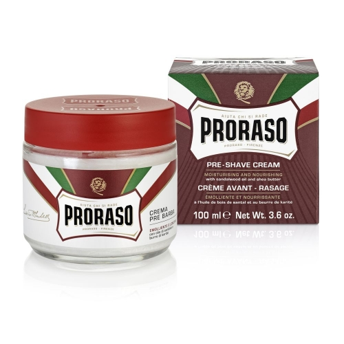 Proraso Pre and Post Shave Cream (Sandalwood Oil and Shea Butter 100ml)