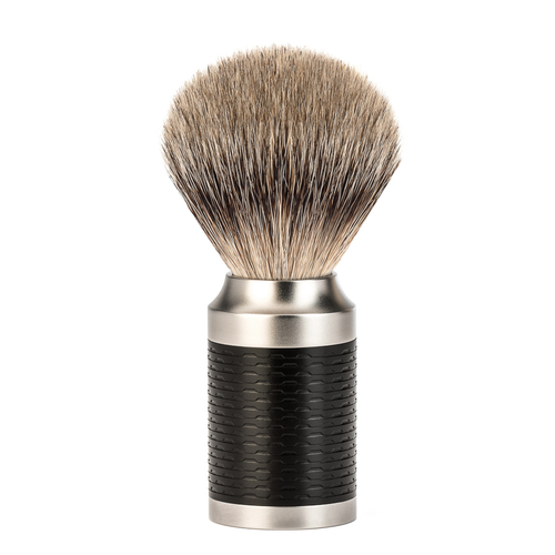 Muhle Rocca Stainless Steel Silvertip Badger Brush
