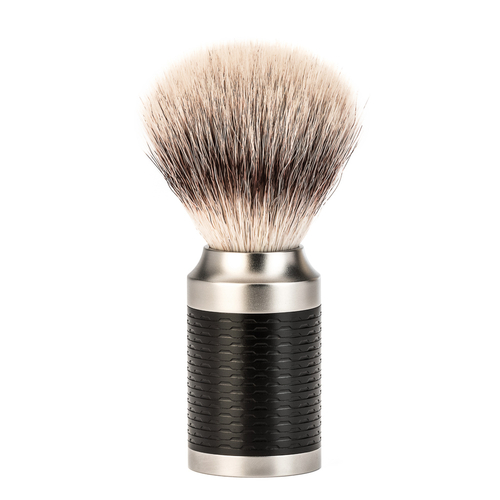 Muhle Rocca Stainless Steel Synthetic Silvertip Fibre Brush