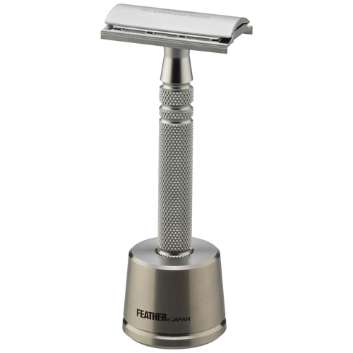 Feather AS-D2S Double-Edge Razor and Stand (Stainless Steel)