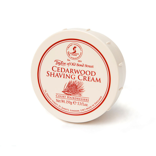 Taylor of Old Bond St Shaving Cream (Cedarwood 150g)