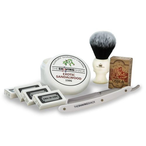 Cut Throat Razor Starter Kit (Replaceable Blades)