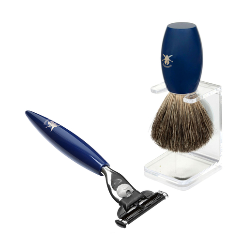 Dreadnought Bundle- Badger Brush, Drip Stand and Mach 3 Razor