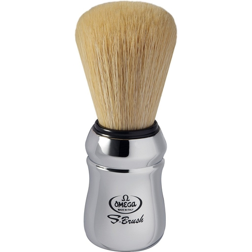 Omega S-BRUSH Chrome Synthetic Shaving Brush S10083